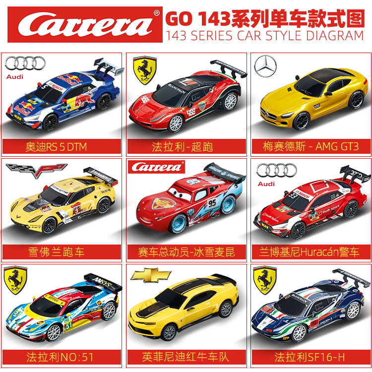 Carrera Double remote control road track racing GO series Single car childrens toys counter