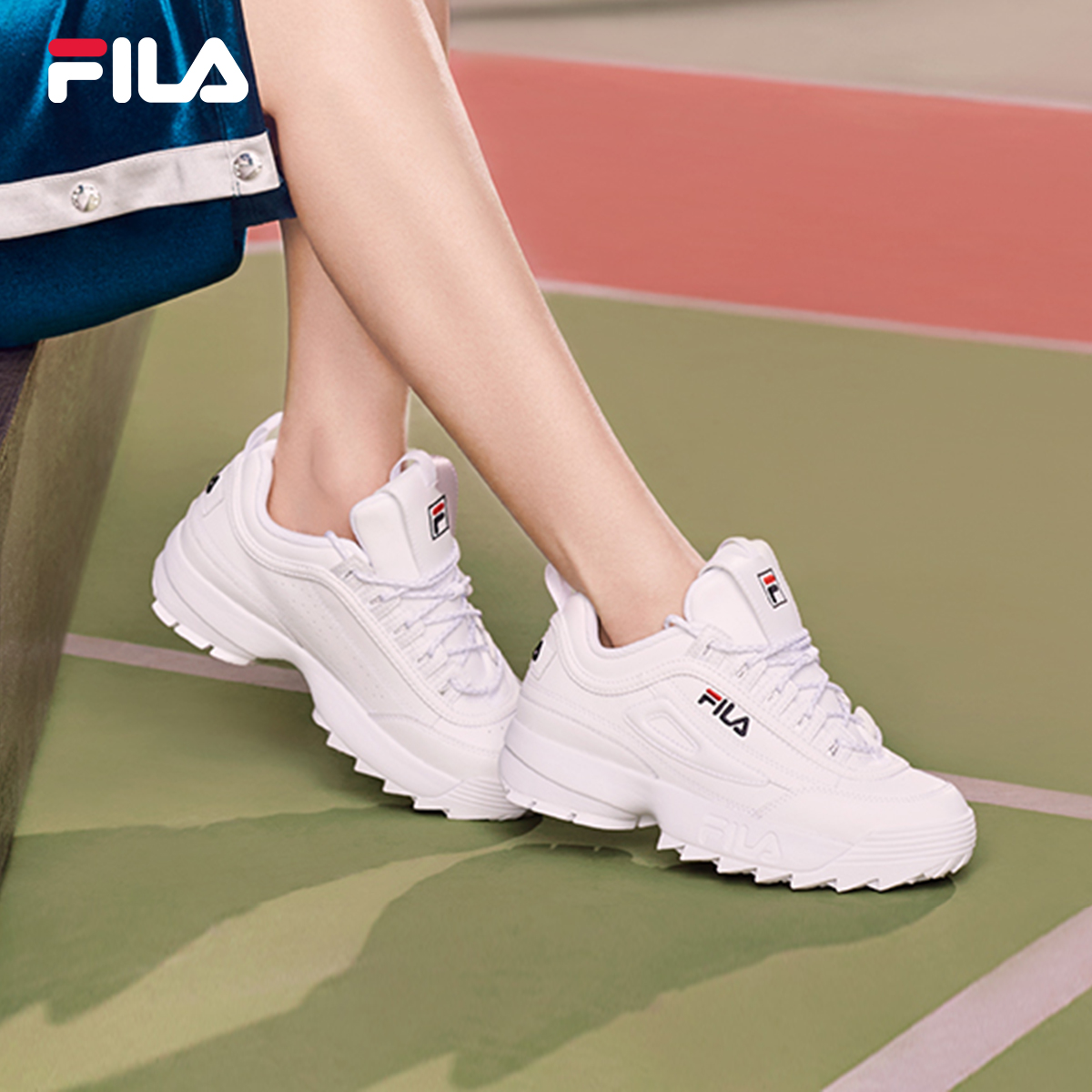 03edff3ebb7 FILA Fila high round with the same women s shoes spring new retro running  shoes fashion leather ...