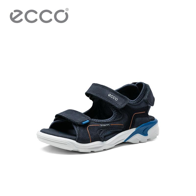 ECCO Love step children s shoes summer scrub leather flat non-slip sandals  beach shoes walking drifting 700632 7c298bc10