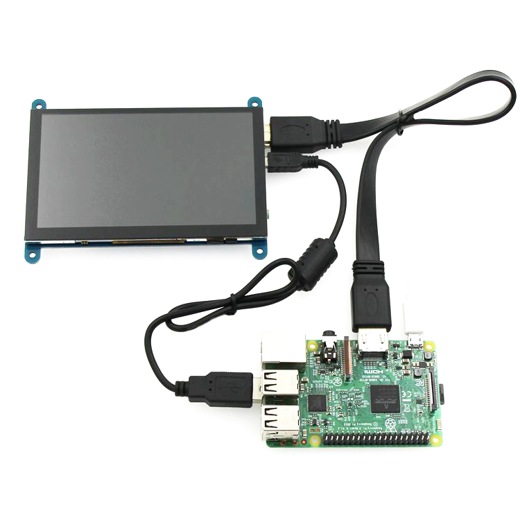 Raspberry Pi 4B display 5 inch HDMI capacitive touch screen driver-free HD  display 800 * 480