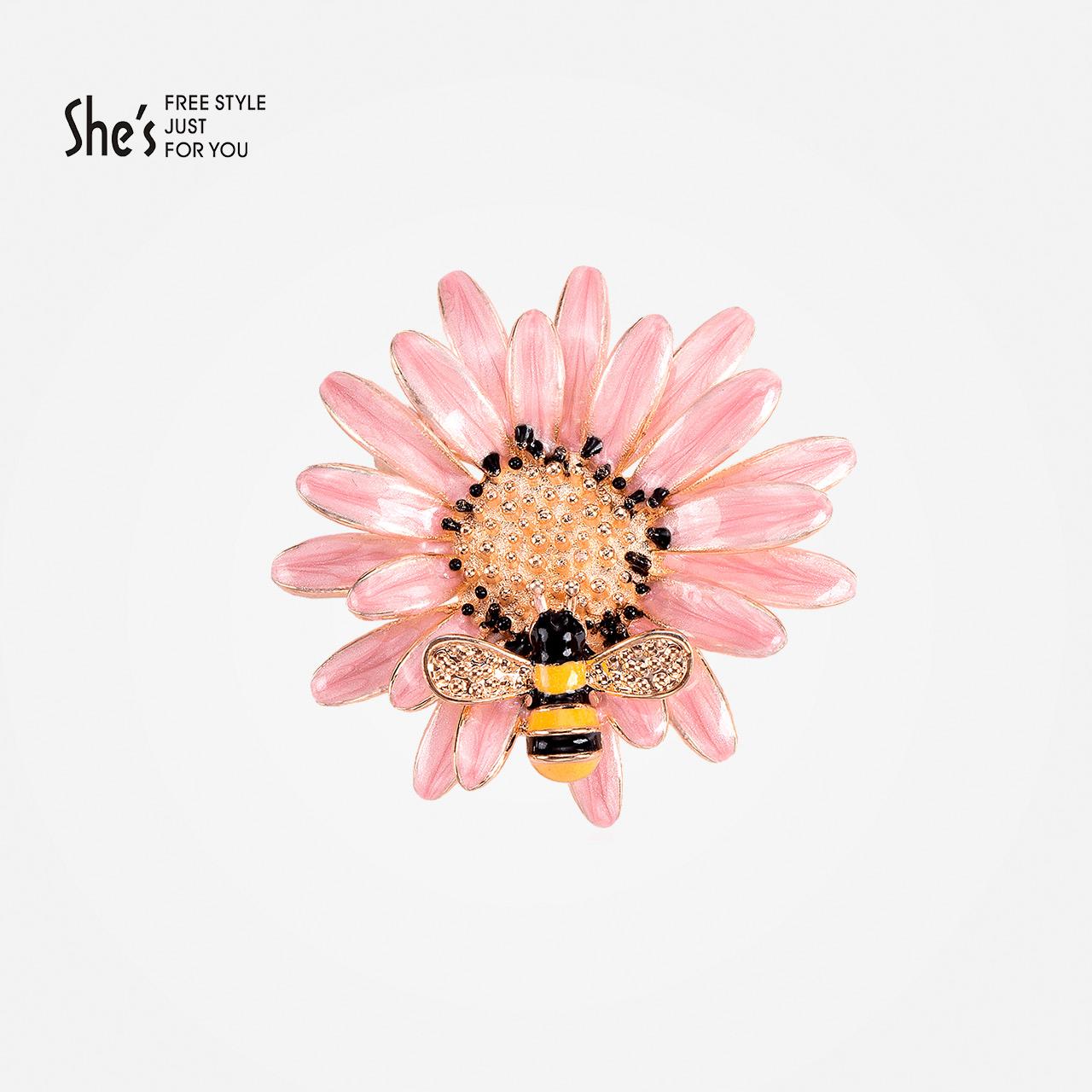 Usd 6581 Shes Handmade Drops Of Oil Daisy Flower Shirt Brooch