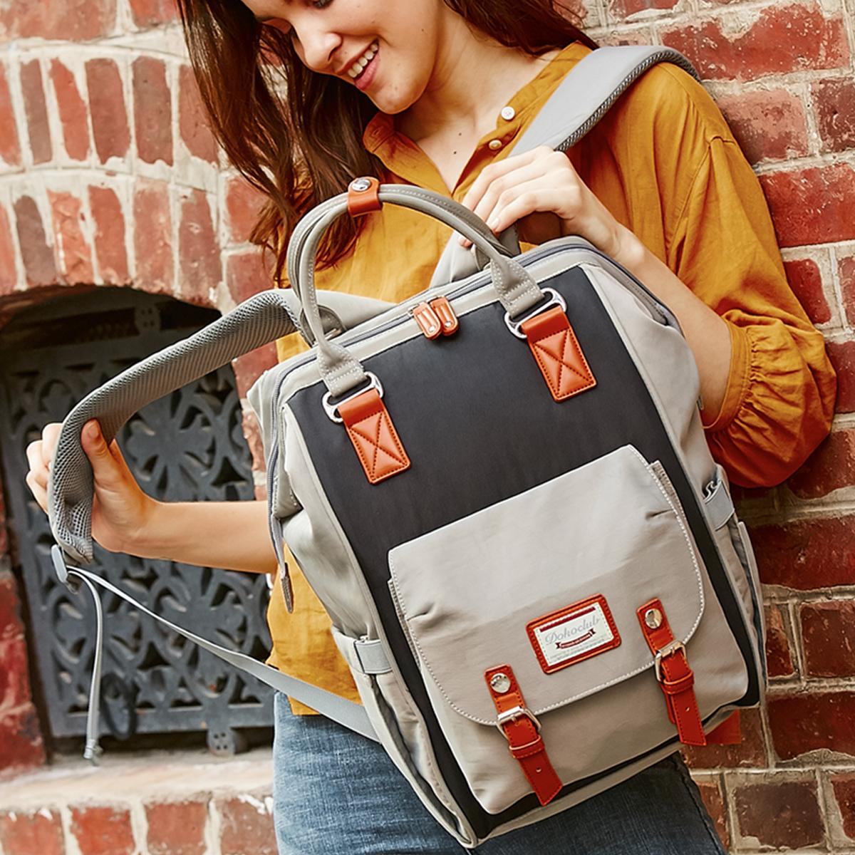 母婴包轻便双肩包女手提书包多功能妈妈包大容量外出旅行防盗背包