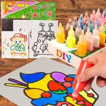 儿童免烤胶画烤画 颜料画涂色画填色画手工diy制作益智涂鸦画套装