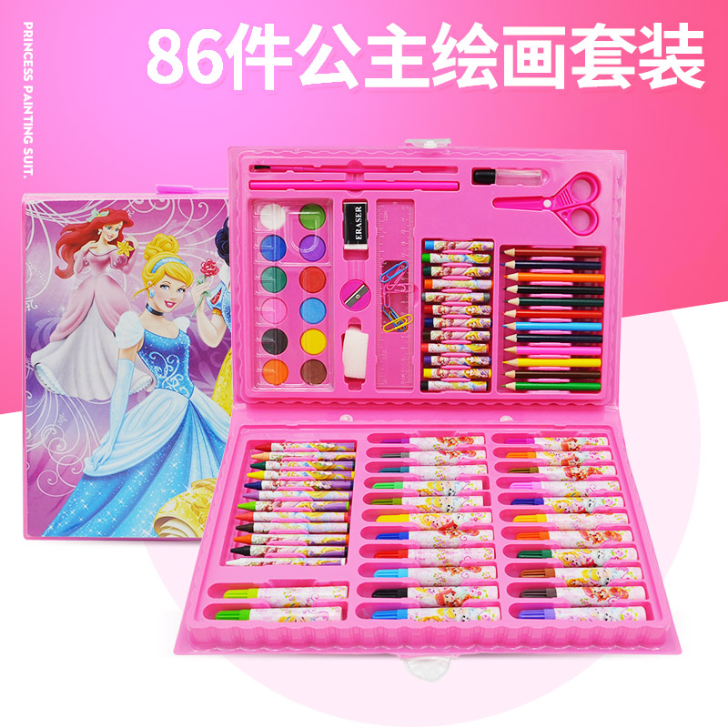 86 PAINTING SET PRINCESS POWDER TO SEND 2 COLORING BOOK
