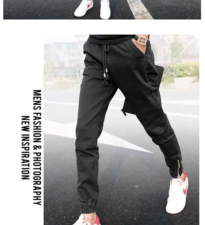 Của nam giới thường quần mùa hè nam quần mỏng quần của nam giới Hàn Quốc phiên bản của xu hướng của chín quần thể thao quần harem quần chùm quần
