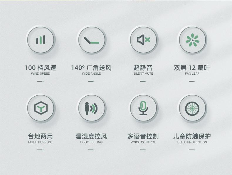 小米生态链 造梦者 100档智能体感风扇 语音控制 图4