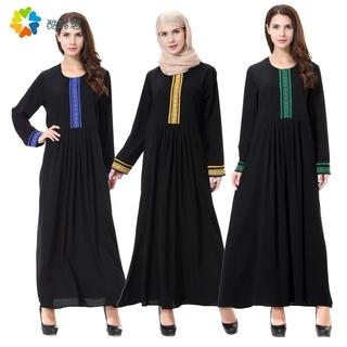 Торжественный мусульманин новая девушка установлены с длинными рукавами арабский женщина песок специальный дубай одежда черный платье долго платье платье комбинезон 4, цена 3972 руб