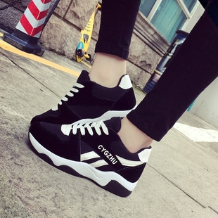 2018 autumn and winter new net red plus velvet cotton shoes sports shoes wild Harajuku Korean version of ulzzang old shoes