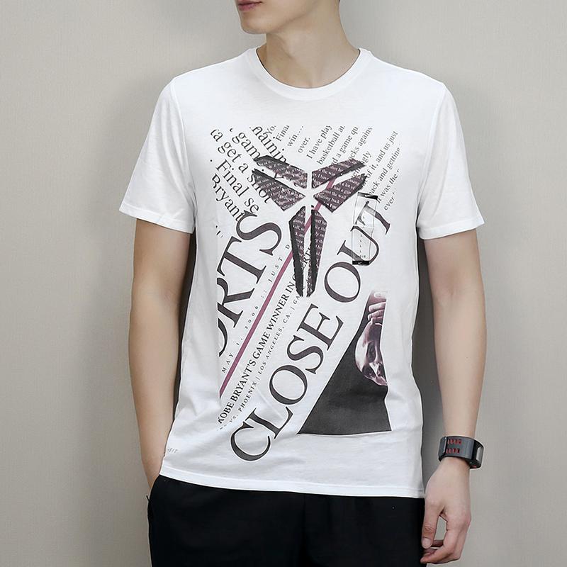 耐克男装2019夏新款KOBE科比篮球运动休闲透气短袖T恤913518-100