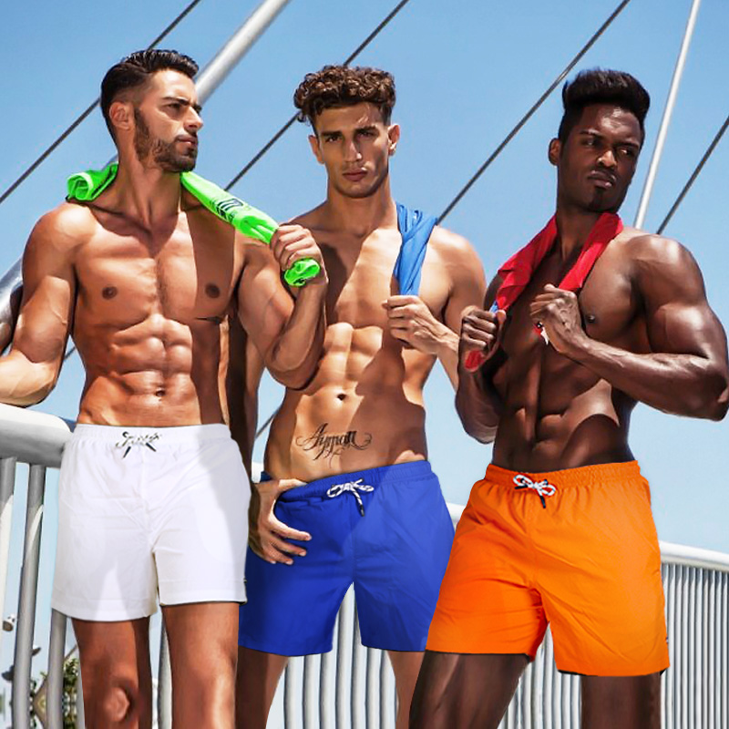 Gailang bên bờ biển kỳ nghỉ bãi biển quần nam khô nhanh kích thước lớn quần short thể thao loose suối nước boxer thân với lót