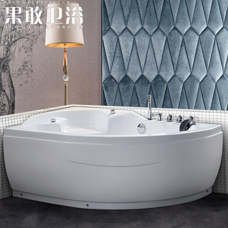 Kokang small bathroom acrylic bathtub small shaped bathtub ...