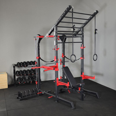 Multi-functional private education comprehensive training equipment commercial Smith machine rushed mutual rack single parallel bars fitness equipment