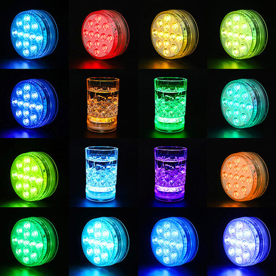 13LED waterproof colorful pool underwater lamp landscape aquaries RF remote control magnet suction cup diving light fish cylinder lamp