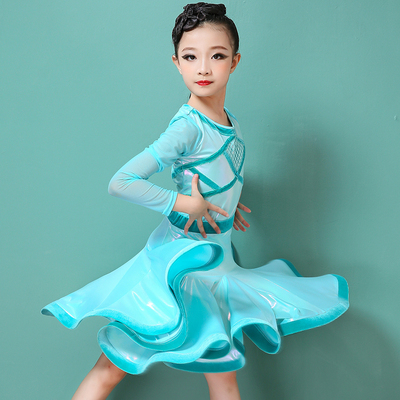 Children's Latin dance dress, girl's fashion, professional competition, performance dress standard, performance dress, high-end Dance Dress