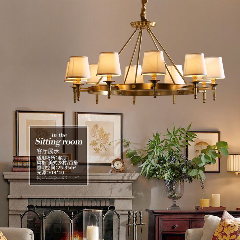 Copper Lamp Simple Creative Living Room