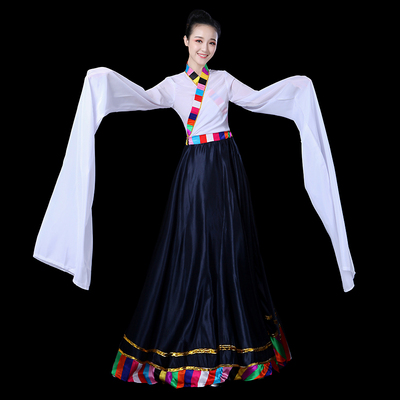 Chinese Folk Dance Costume Tibetan Dance Costume ethnic minority costume Tibetan dance practice skirt Square Dance Costume opening dance dress