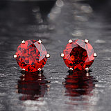 SAWEIYA 18K Gold Earrings Ruby Garnet Earrings Earrings 9K18K Rose Gold Female Gem