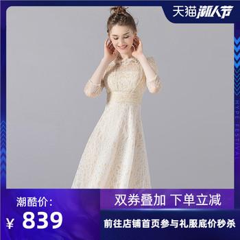 Вечерние платья,  Ночь платья женщина 2020 новый высокий дорогой партия элегантность платье кружево блестки небольшой церемонии одежда обычно носить, цена 13052 руб