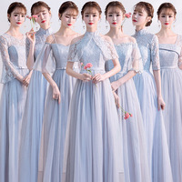 Платье невесты длинный фасон 2019 новая коллекция осень-зима Платье невесты серый Был тонкий выпускной вечер платье хозяина женского пола