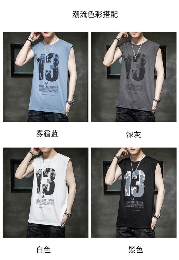 男装短袖背心T恤男2020夏季新款体恤男士打底衫潮牌潮流6102-P25