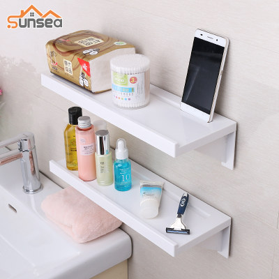 Bathroom rack wall hanging suction cup bathroom rack free punching vanity toilet toilet partition
