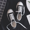 Wild 2018 new canvas shoes female white shoes Korean Harajuku ulzzang board shoes student shoes lovers summer