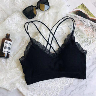 Summer tube top thin cross strap beauty back chest pad one-piece bra with chest pad wrapped chest anti-empty bottoming underwear strap