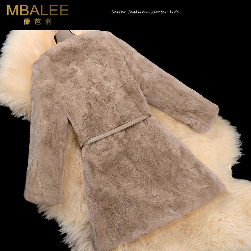 Montparnian fur coat trong đoạn dài 2018 new rex thỏ tóc nữ vòng cổ lông mùa đông đặc biệt giải phóng mặt bằng