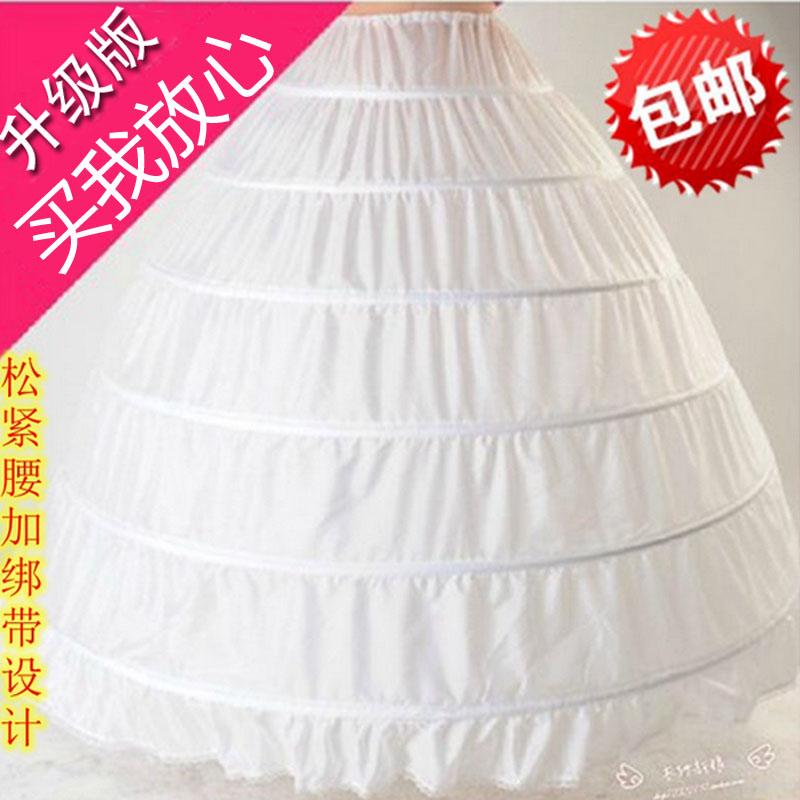 Увеличение превышать пушистый невеста свадьба платья производительность 6 диски паньер особенно большой моделирование подкладка паньер стандарт бесплатная доставка