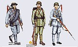 1/6 Soldier customized model 12 inches Sino-Japanese War soldiers military uniforms made miniature single suit