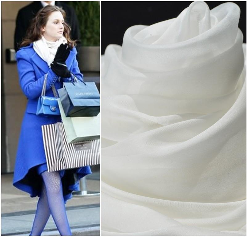 шарф Алиса на рисунке в чисто белый цвет шарф, шелк шифон шарф тонкий прозрачный модели большие шали затенение Европейский и американский шарф шелк