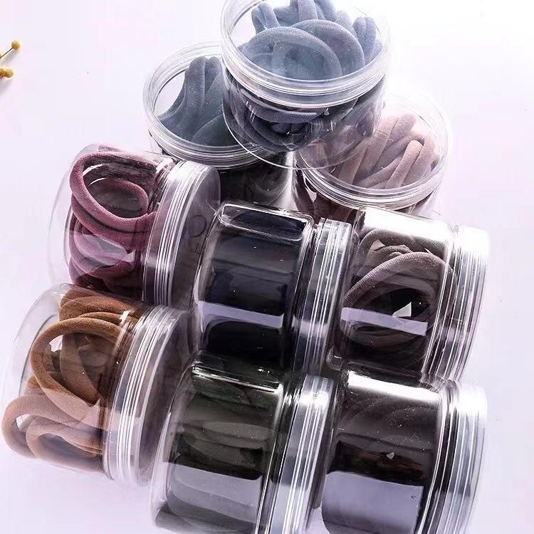 中國代購 中國批發-ibuy99 20条套装皮筋韩版素色简约无缝不伤发高弹皮筋头绳发圈