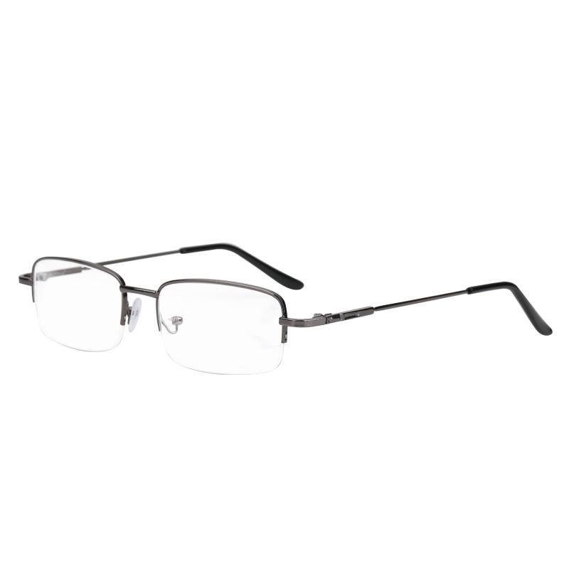 配近视眼镜男有度数金属半框超轻眼镜