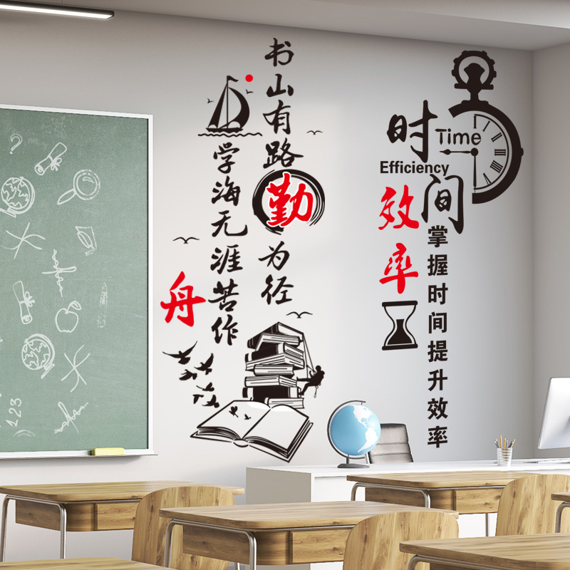 usd 9.11] inspirational wall stickers school classroom class culture