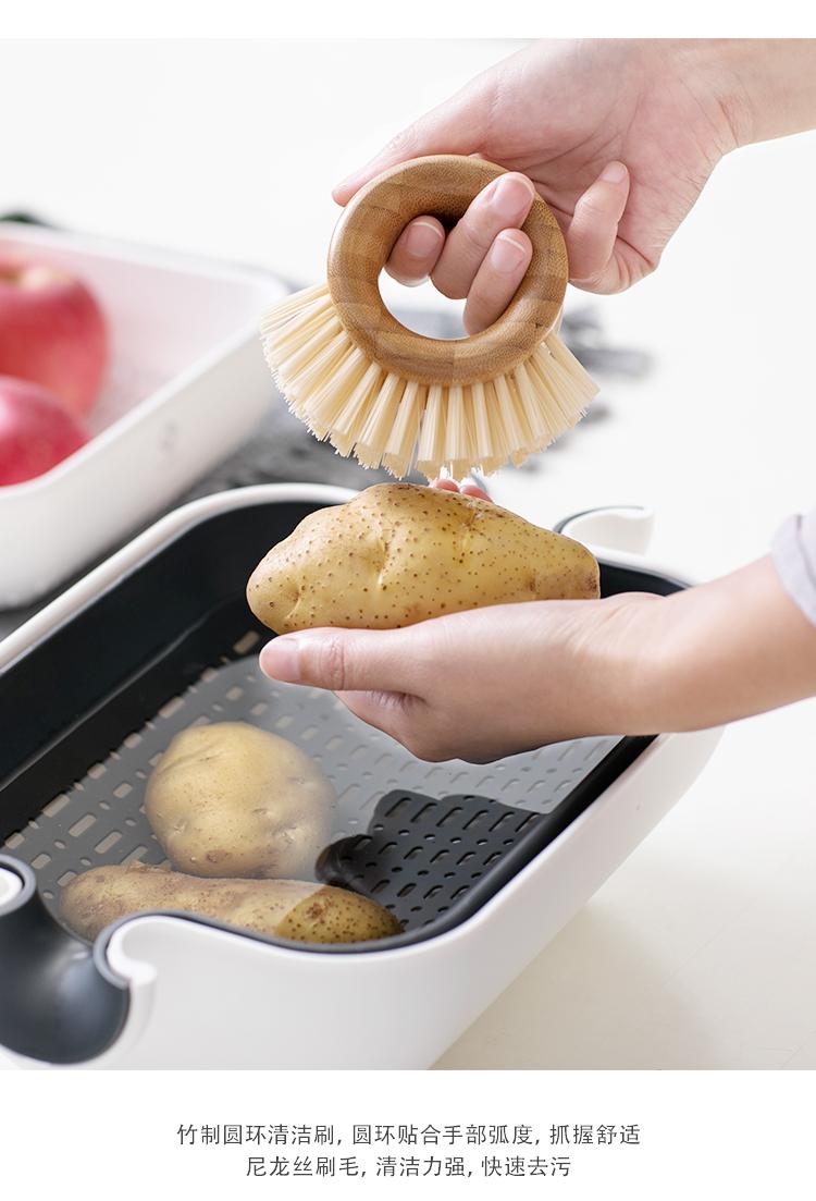 厨房神器食品水果刷水池洗菜刷子清洁工具用具蔬果刷清洁刷刷黄瓜详情图