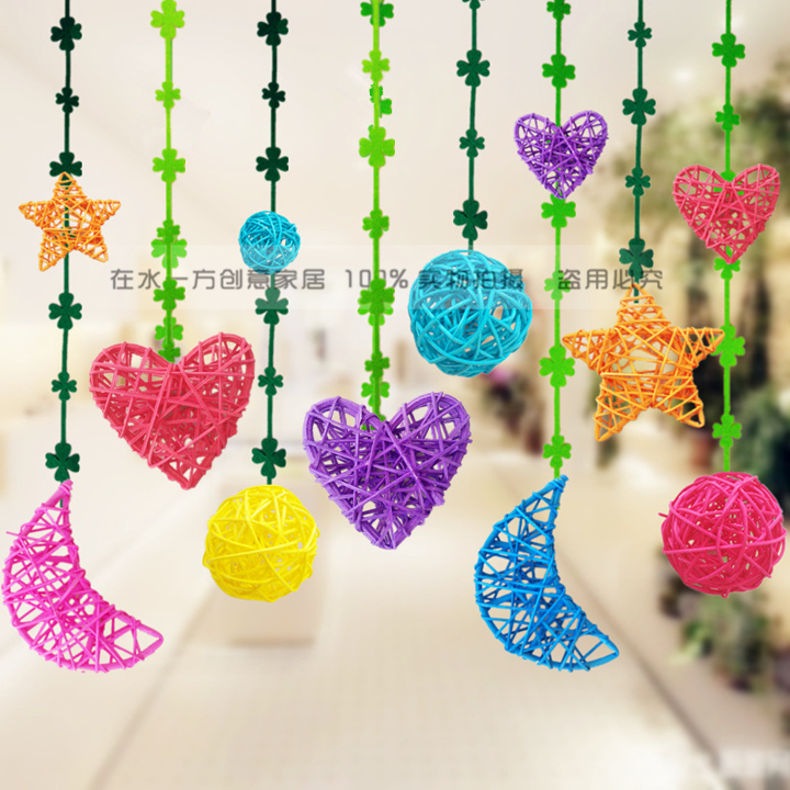Wind Chimes & Hanging Decorations Latest Collection Of Wholesale Pink Crystal Window Hanging Sepak Takraw Diy Rattan Ball Home Decoration Accessories Glass Ornaments Best Gift Home Decor