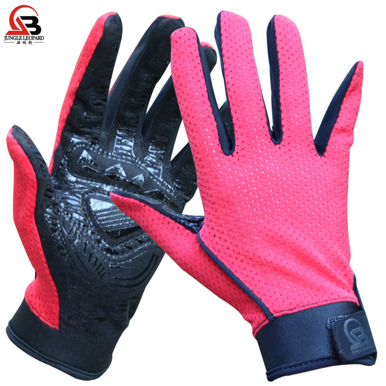 Jungle Leopard Outdoor Mountaineering Gloves Full Finger Non-slip Gloves Sports Breathable Summer Mesh Glue