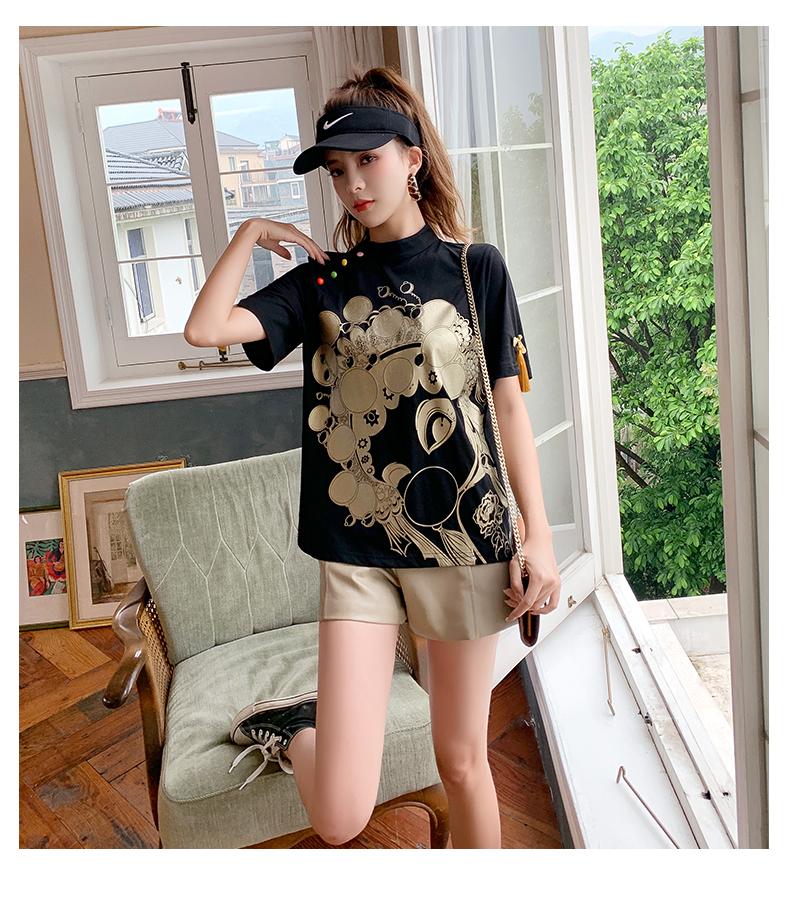 汉服女夏改良版时尚唐装年轻古风日常中国风女装中式盘扣旗袍上衣详细照片