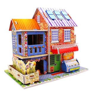 幼儿童3d立体拼图拼装积木3-4-6岁男孩女孩早教益智玩具房子模型