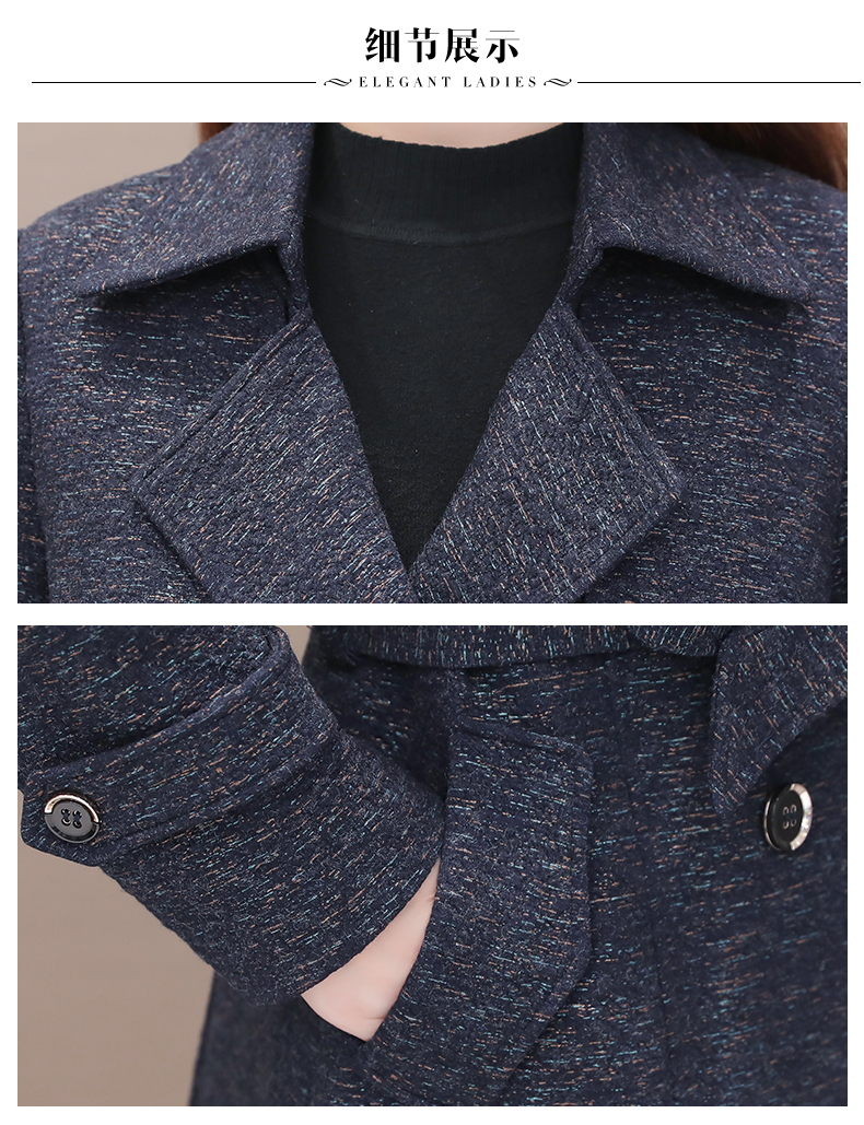 Women's windshield 2020 new spring and autumn fashion Korean version show thin tie with double-row button small jacket jacket 62 Online shopping Bangladesh
