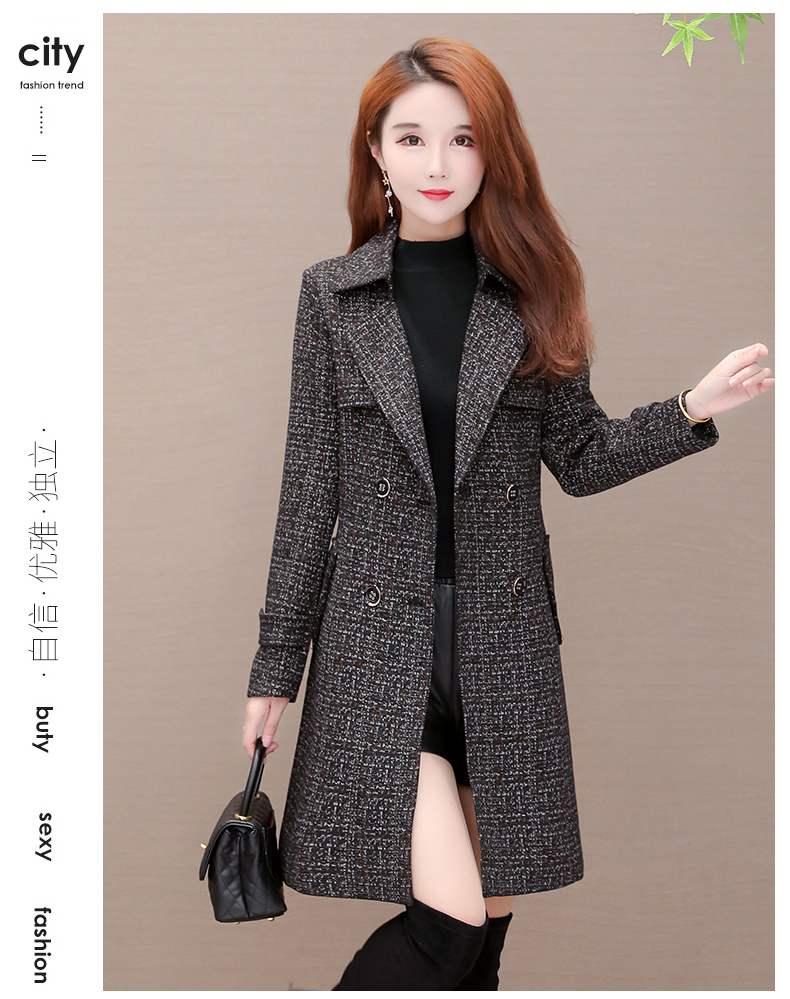 Women's windshield 2020 new spring and autumn fashion Korean version show thin tie with double-row button small jacket jacket 60 Online shopping Bangladesh