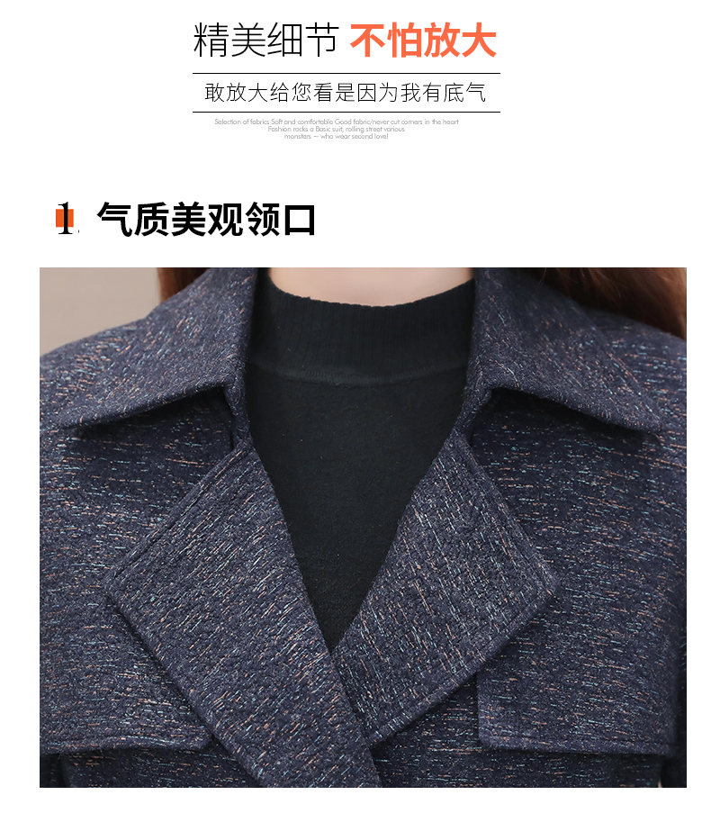 Women's windshield 2020 new spring and autumn fashion Korean version show thin tie with double-row button small jacket jacket 48 Online shopping Bangladesh