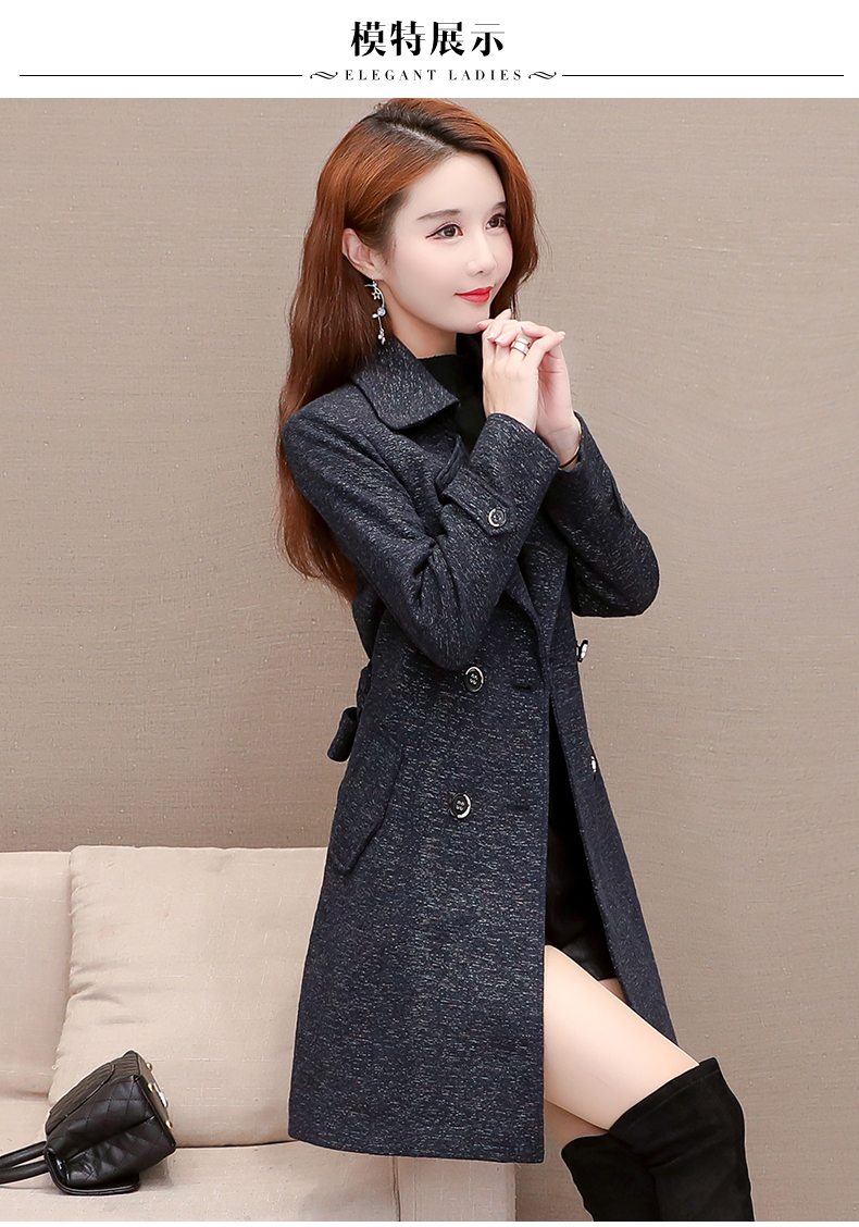 Women's windshield 2020 new spring and autumn fashion Korean version show thin tie with double-row button small jacket jacket 54 Online shopping Bangladesh