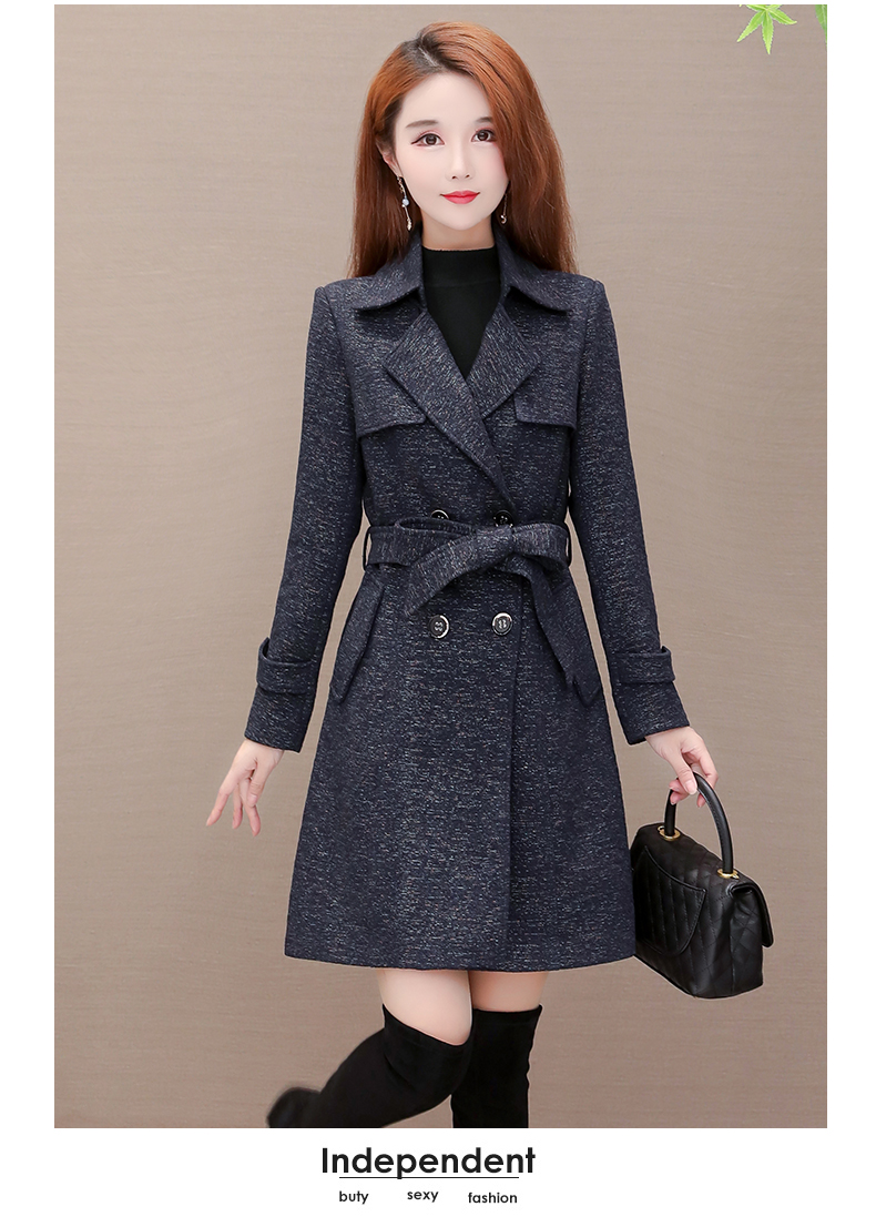 Women's windshield 2020 new spring and autumn fashion Korean version show thin tie with double-row button small jacket jacket 57 Online shopping Bangladesh