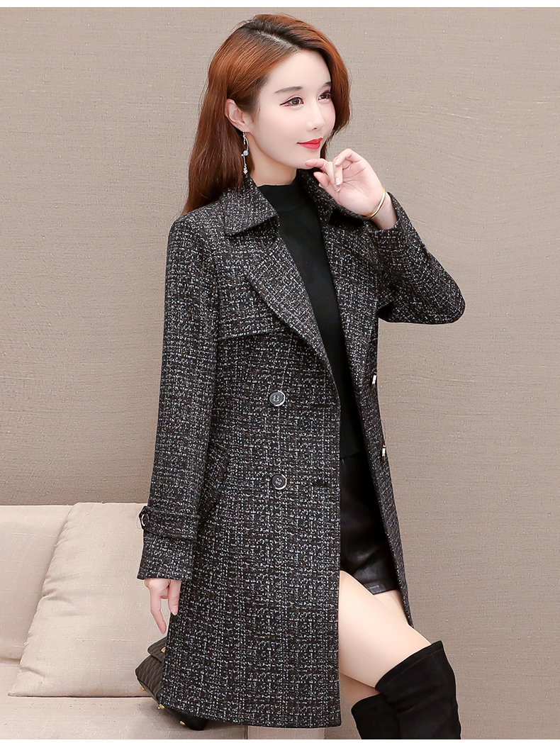 Women's windshield 2020 new spring and autumn fashion Korean version show thin tie with double-row button small jacket jacket 58 Online shopping Bangladesh