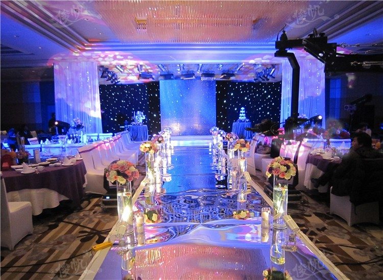 Wedding Centerpieces Mirror Carpet Aisle Runner Gold