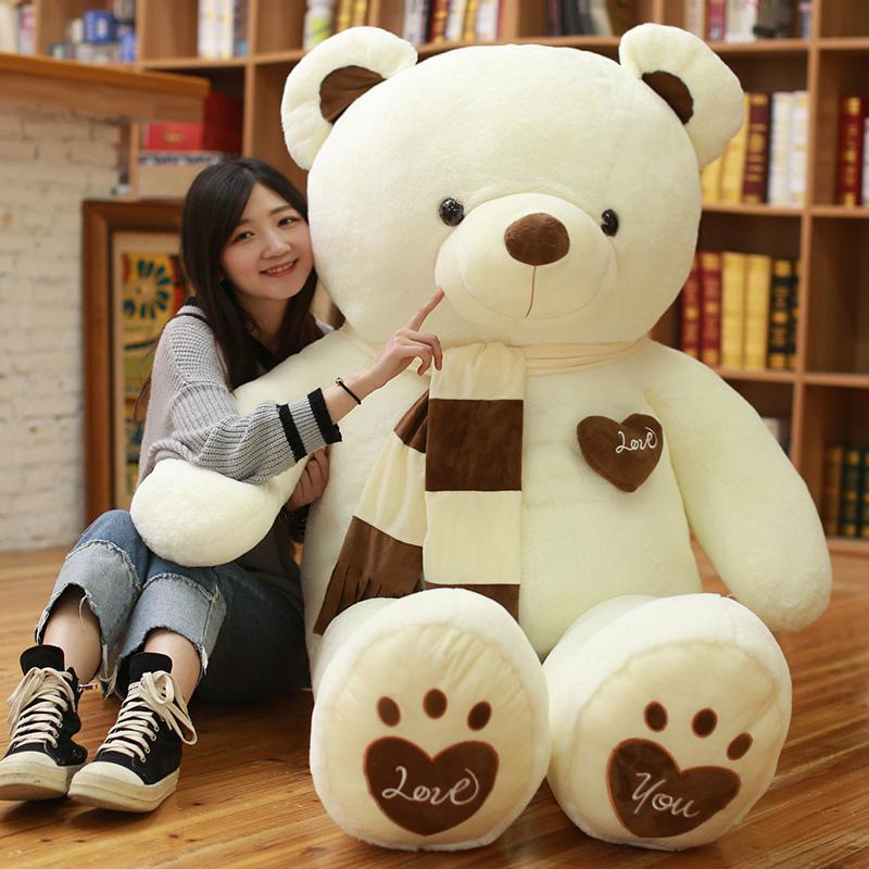 泰迪熊公仔毛绒玩具大号布娃娃熊猫玩偶睡觉抱抱熊可爱布偶送女友