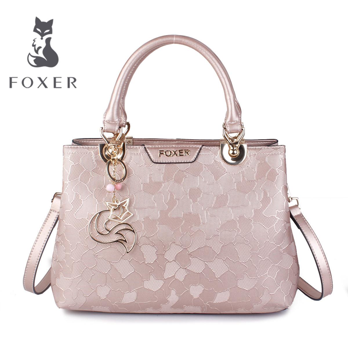 ecc7d545a8 Gold fox leather handbag 2019 new spring and summer handbag ...