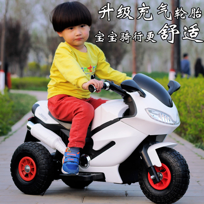 UPGRADED VERSION OF THE DUAL-DRIVE WHITE + MUSIC EARLY EDUCATION + LIGHT  INFLATABLE WHEEL + REMOTE CONTROL