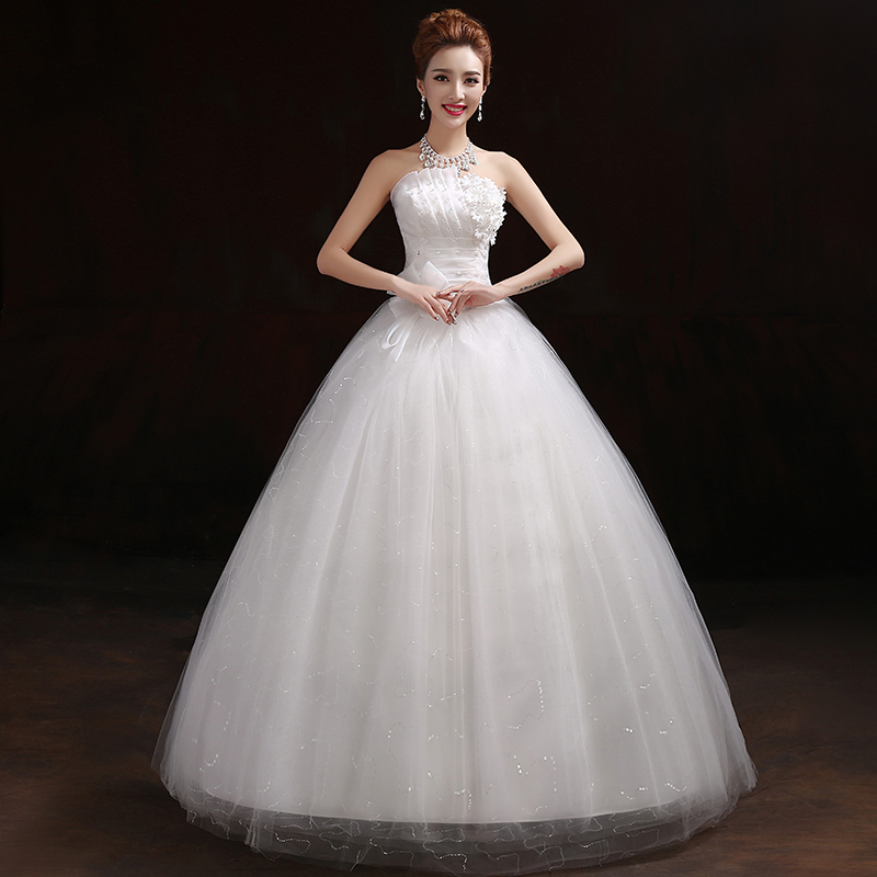 Korean style light summer princess Qi tube top wedding dress 2018 ...